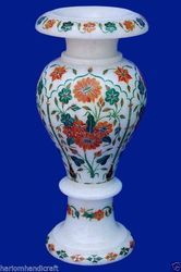Stone Flower Inlaid Vase