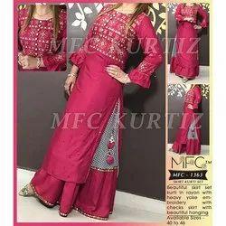 MFC 1363 Rayon Kurti with Skirt