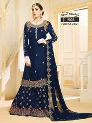 Bollywood Ethnic Georgette With Embroidery Work Ladies Suit