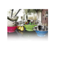 Green And Pink Kitchen Colanders, For Home