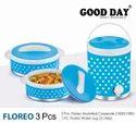Floreo 3 Pc Picnic Set (2 Casserole 1500 Ml/ 1 Water Jug)