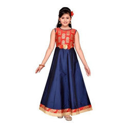 2c61f277dc Royal Blue Party Wear Adiva Girl's Lehenga Choli Set For Kids, Rs ...