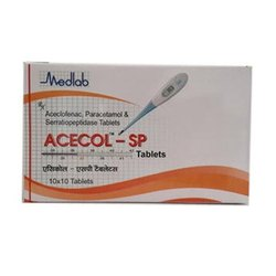 Aceclofenac Paracetamol Serratiopeptidase Tablet Third Party/Contract Manufacturing