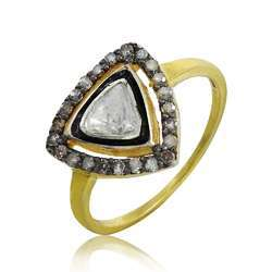 Hot Design 925 Sterling Silver Diamond Inlay Ring