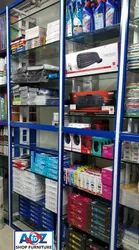 Metal Wall Mounted Stationary Store Furniture