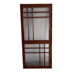 Finished Hinged Teak Wood Jali Door With Polish for Home and Office