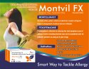 Montelukast 10mg , Fexofenadine 120mg Chewable Tablet  Alu-Alu