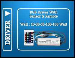 100 watt RGB Driver With Remote & Sensor (IP65)