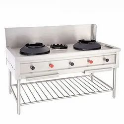 Chinese Cuisine Burner With And Without Flush