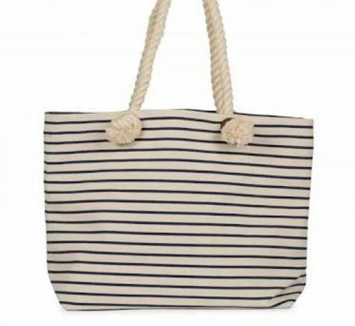 34c368382ca White Lines Canvas Beach Bags