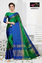 Akshita Cotton Silk with Zari Border Saree