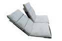 Adjustable Floor Lounger Meditation Chair(Twin) -LIGHT GREEN