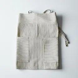 Strip Linen Half Apron, For Kitchen, Size: Medium