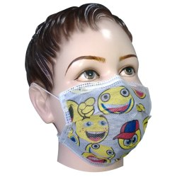 Disposable 4 Ply Kids Printed Activated Carbon Mask