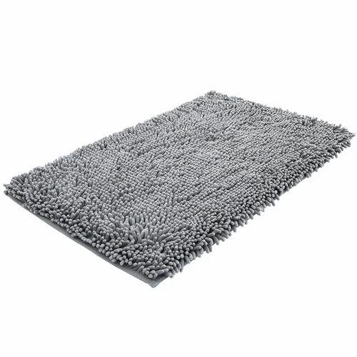 Grey Bathroom Rug Size 16 X 24 Inch
