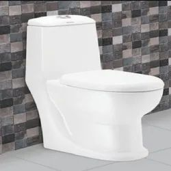 White Floor Mounted Ceramic Toilet Seat, For Bathroom Fitting