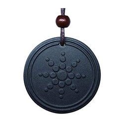 SSGJ Negative Ions Black Scalar Pendant for Blood Circulation and pain relief Shree Shyam Gems