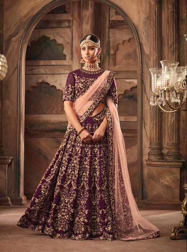 31d5649322 Maisha Semi-Stitched Heavy Bridal Designer Lehenga Choli, Rs 5095 ...