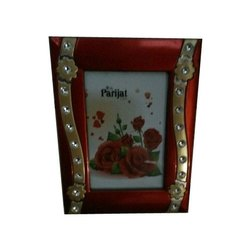 Rectangle Red Plastic Single Photo Frame
