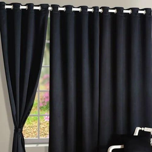 Coal Black Blackout Curtains