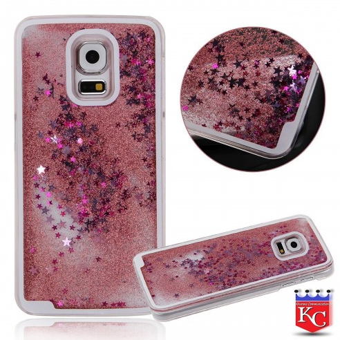Liquid 3d Shinning Glitter Star Back Cover For Samsung Galaxy Note 4