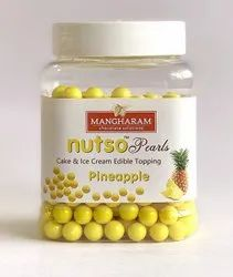 Yellow Round Nutso Pearls Cake Toppings Pineapple-100g Jar, Weight: 100 Gms