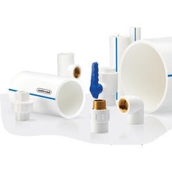 Upto 2 Inch White Ashirvad UPVC Pipes Fittings, Thickness: 3mm