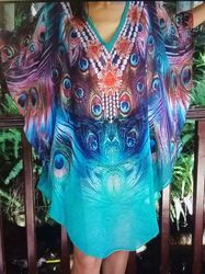 Ladies Digital Printed Kaftan