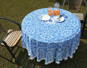 Pom Pom Lace Printed Round Table Decor Cloth