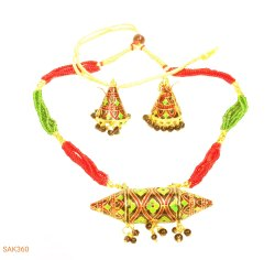 Copper Traditional Jewellery Set, Size: Free Size