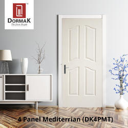 DK-4PMT 4 Panel Mediterrian Wooden Moulded Door