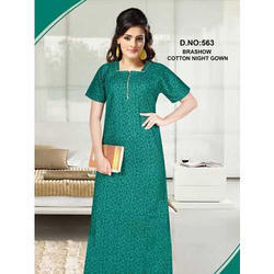 Green Ladies Brashow Cotton Nightgown