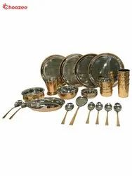 Copper / Stainless Steel Dinner Set (28 Pcs) for 4 People