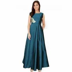 Western Wedding,Party Ladies Silk Gown