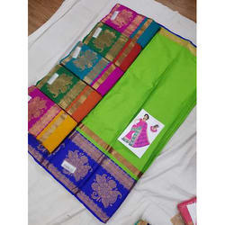 Silk Traditional Saree and Blouse, Length: 6.3 m