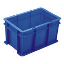 Blue Rectangular Plastic Crates Cc64425, Capacity: 87 L