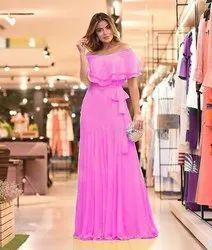 Designer Faux Georgette Gown