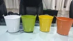 Mini Metal Buckets Assorted Colors for Plants and Party Favors Or Return Gifts