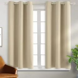 Window and Door Plain Living Room Curtains