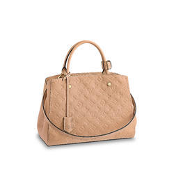 Light Brown Synthetic Leather Las