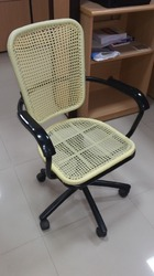 Cane Wire Net Revolving Chair
