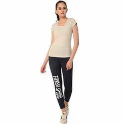 Ladies Navy Fitness Studio Track Pant