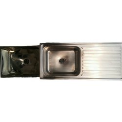 Stainless Steel Kitchen Sink With Drainboard