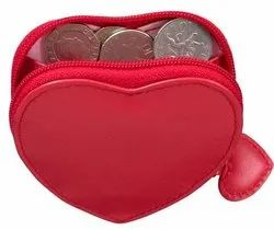 Leather Heart Shape Coin Purse
