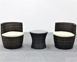Universal Furniture 3 Pieces Outdoor Patio Rattan Chair Set