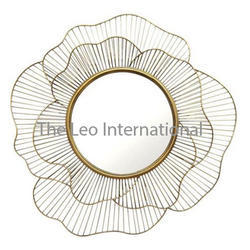 Rose flower shape metal Decorative mirror for wall decoration