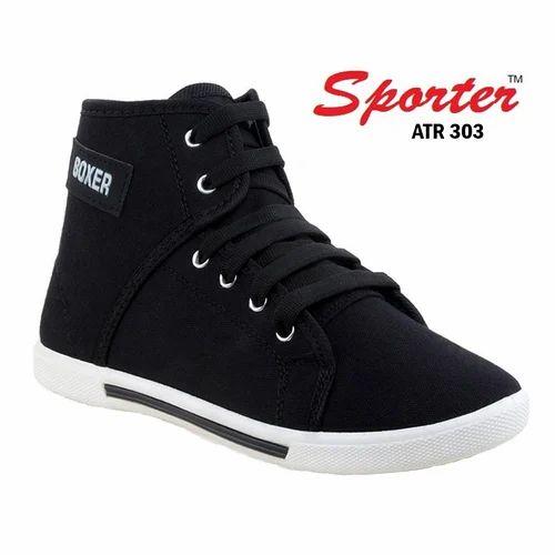 Sporter 303 Black Canvas Casual Sneaker