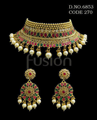 9ca144a5a Necklace Sets - Antique Designer Necklace Set Exporter from Mumbai