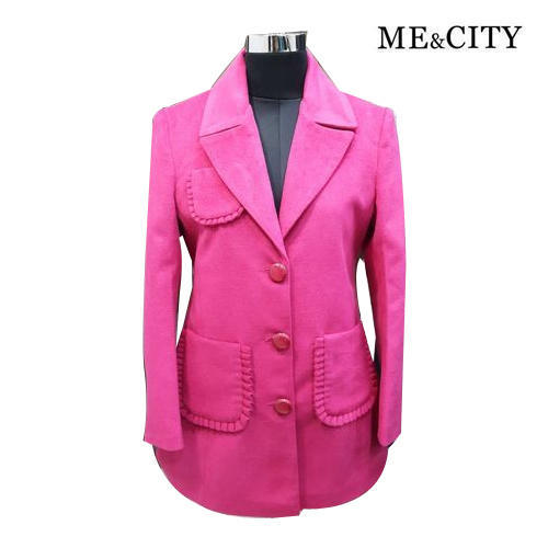 Ladies Casual Designer Pink Winter Coat Size M Xxl Rs 1375 Piece