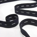 Black Cotton Buttonhole Elastic Tape, Thickness: 12mm, For Belt